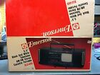 vintage boombox, Emerson XLC455 with tv in box!