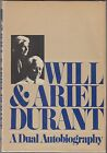 A Dual Autobiography by Will Durant Ariel Durant 1977 SIGNED HC DJ 1ST ILLUS