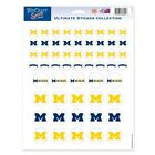 MICHIGAN WOLVERINES 85x11 ULTIMATE LOGO STICKER SHEET BRAND NEW WINCRAFT