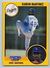 1991  RAMON MARTINEZ - Kenner Starting Lineup Card - LOS ANGELES DODGERS