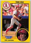 1991  TODD ZEILE - Kenner Starting Lineup Card - ST. LOUIS CARDINALS