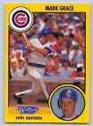 1991  MARK GRACE - Kenner Starting Lineup Card - CHICAGO  CUBS