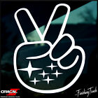 Subaru Peace Sign Decal Subie Wave Sticker Outback Impreza Legacy Wrx Sti Jdm