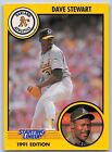 1991  DAVE STEWART - Kenner Starting Lineup Card - OAKLAND ATHLETICS