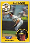 1991  MARK McGWIRE - Kenner Starting Lineup Card - OAKLAND ATHLETICS
