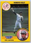 1991  ROBERTO KELLY - Kenner Starting Lineup Card - NEW YORK YANKEES
