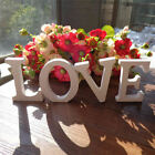 White Wooden Letters Alphabet Wedding Birthday Wood Word Party Home Decor