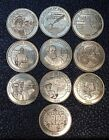 1999 THE SUNOCO MILLENNIUM COIN SERIES - Complete Set of 10 Coins  + extra  coin