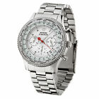 DETOMASO Firenze Mens Wrist Watch Chronograph Stainless Steel White Dial New