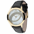 YVES CAMANI Arcenciel Womens Watch Gold Plated Dial Mother Of Pearl Leather New