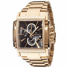 YVES Camani ESCAUT Mens Watch Gold Plated Chronograph Stainless Steel Strap New