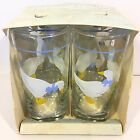 NEW Vintage INDIANA GLASS 12 oz Tumbler Set: 4 COUNTRY GOOSE Beverage NIB Lot