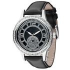 YVES CAMANI Rouen Womens Watch Stainless Steel Dial Mother Of Pearl Leather New