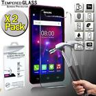 2 Pack Real Tempered Glass Screen Protector Cover For Philips Xenium V377