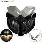 Naked Street Fighter Dual Beam Fairing Headlight Motorbike 35mm-54mm Bracket Hot