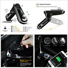 Bluetooth Handsfree FM Transmitter Kit Car 2USB Charger MP3 Player For Smartphoe