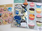 Jolees K  CO Baking Cooking Scrapbooking Stickers Packages Lot Cupcakes