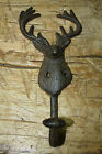 Cast Iron DEER Towel Coat Hooks Hat Hook Key Rack Ranch Hunting Camp Decor ELK