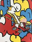 Old Friends - 2015 Jerkface poster street art Calvin and Hobbes AP