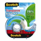 Scotch Transparent Greener Tape 075 Width Photo safe Non yellowing