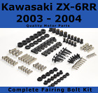 Complete Fairing Bolt Kit body screws for Kawasaki Ninja 2003 - 2004 ZX 6RR 636