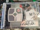 Derek Jeter game used autograph # 50 2008 ultimate collection UD