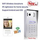 New 1mp wifi waterproof wirelss ip video doorbell doorphone home Intercom system
