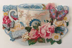 6 Punch Studio English Rose Floral Tea Cup All Occasion Blank Note Cards New