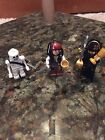 Lego Figure Lot - Jack Sparrow and Blackbeard Skelton