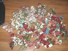Hugh Lot 100+ Artificial Flowers Mini Rose Babys Breath w wire New Tags
