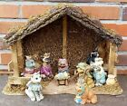 CHRISTMAS CATS 9 PCE NATIVITY SET WITH SUPER STABLE