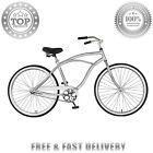 Cycle Force Mens Cruiser Style City Adult Bicycle 26 Inch Silver Steel Frame HQ