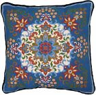 Candamar Designs 30948 Kaleidoscope Style Needle Point Kit 14 x 14 Blue Pillow
