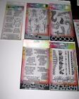 Ranger Dylusions Lot of 4 Stamp  Stencil Sets  1 Clear Stamp Set New 51