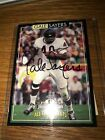 1996 GALE SAYERS JIMMY DEAN ON-CARD AUTOGRAPH SIGNATURE CARD CERTIFIED