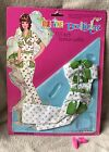 Vintage Petite Boutique Barbie Clone Outfit 1970s Flowered Jumpsuit In Package