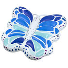 Swimline Blue Butterfly Inflatable Ride On Pool Float Island Lounger  90458