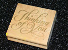 Rubber Stamp Thinking of You Cursive Curley Lettering Rubber Stampede