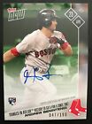 2017 TOPPS NOW #77A ANDREW BENINTENDI ON CARD AUTO #47 199 RED SOX - SHARP CARD