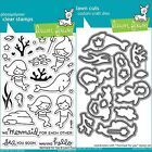Lawn Fawn MERMAID FOR YOU Clear Stamps Only OR Stamp and Die Bundle