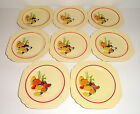 Homer Laughlin MEXICANA Square Century Shape Red Band Bread Plates, Set of 8