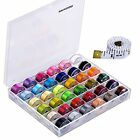 Paxcoo 36 Pcs Bobbins And Sewing Threads With Case And Soft Measuring Tape For