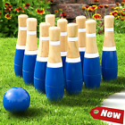 Wooden Lawn Bowling Set Kids Family Yard Play Games Outdoor Garden Funny Skills