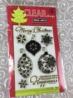 NIP Hero Arts Clear Stamps Christmas Bulbs Decorate Holiday Happiness NEW als