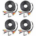 4 PACK 100ft Feet Video Audio Power BNC Security Camera Extention Cable For 2