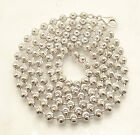 5mm Diamond Moon Cut Ball Bead Chain Necklace Real Sterling Silver ITALY QVC