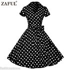 ZAFUL 1950s Vintage Rockabilly Swing PIN UP Party Evening Retro Dress Plus Size
