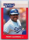 1988   PEDRO GUERRERO - Kenner Starting Lineup Card - LOS ANGELES DODGERS