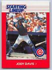 1988   JODY DAVIS - Kenner Starting Lineup Card - CHICAGO CUBS
