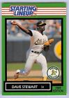 1989  DAVE STEWART - Kenner Starting Lineup Card - OAKLAND ATHLETICS